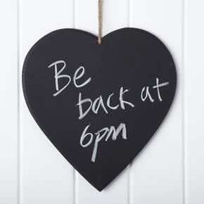 Heart Shaped Chalk Board