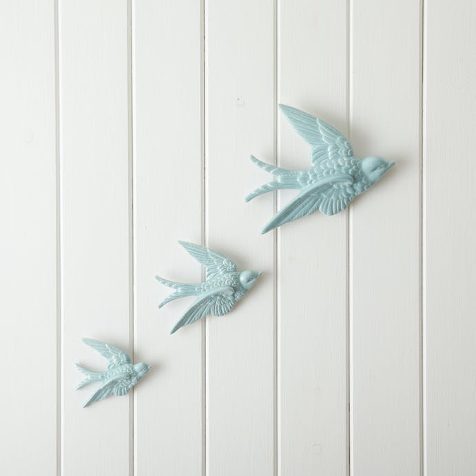 Set of 3 Ceramic Swallows