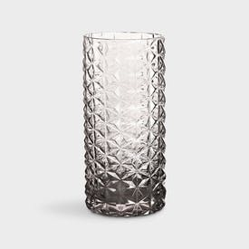 Retro 70s Grey Glass Vase