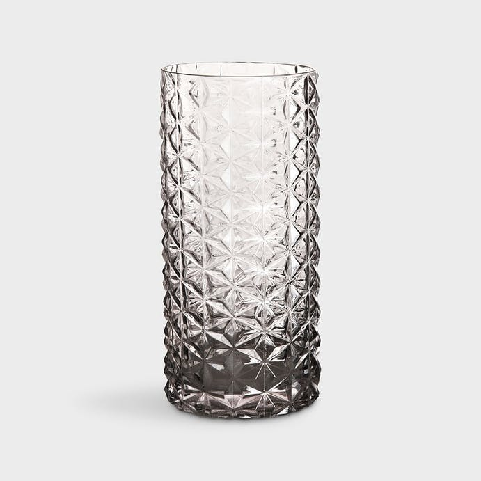 70s Light Grey Glass Vase by and Klevering