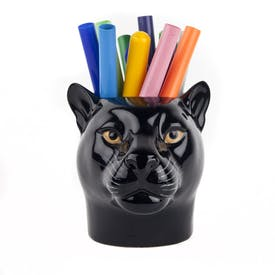 Panther Pencil Pot by Quail Ceramics
