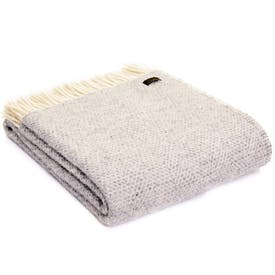 Pure New Wool Throw Grey Beehive
