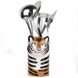 Utensil Pot Tiger by Quail Ceramics