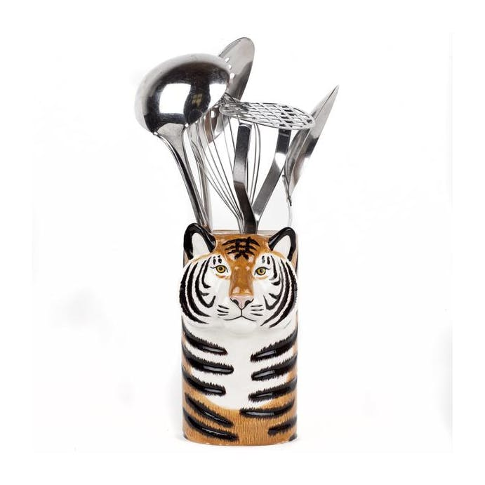 Tiger Utensil Pot by Quail Ceramics