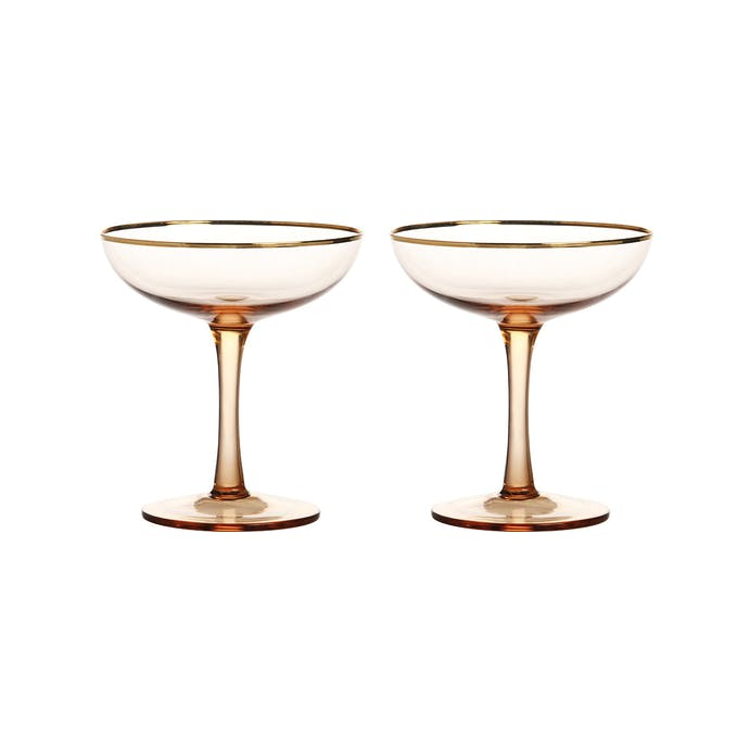 Pair of Pink Champagne Coupes by &klevering