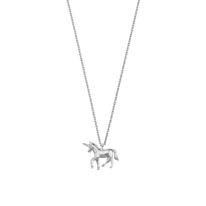 Silver Unicorn Necklace by Estella Bartlett