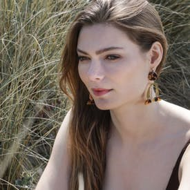 Fawn Gold Plated Arch Earrings by A Weathered Penny