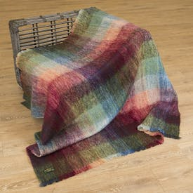 Heather Mohair Throw