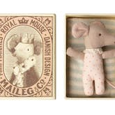 Baby Girl Mouse in a Matchbox by Maileg