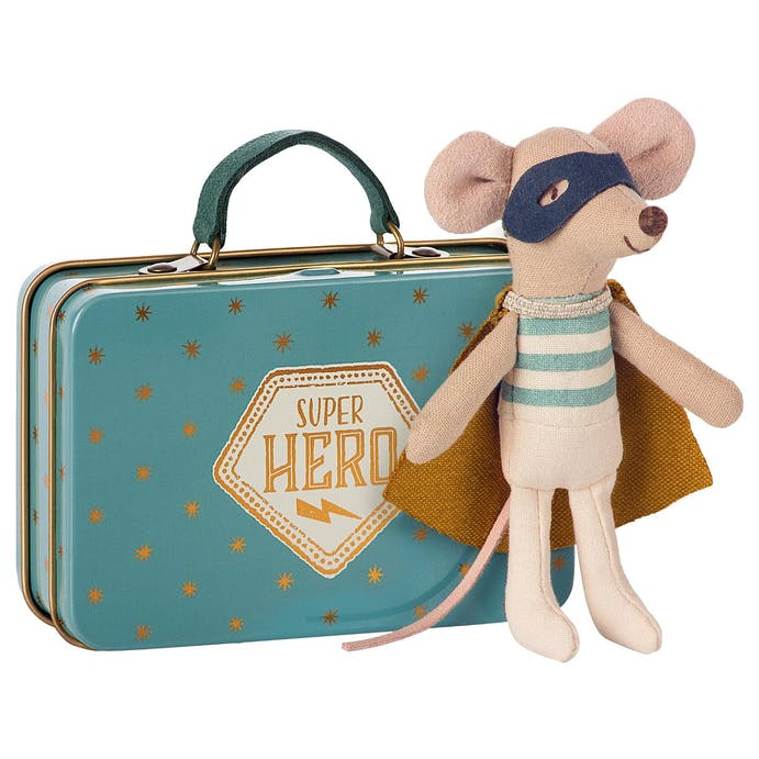 Superhero mouse in a suitcase by Maileg
