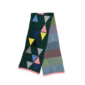 Forest Triangles Scarf by Miss Pom Pom