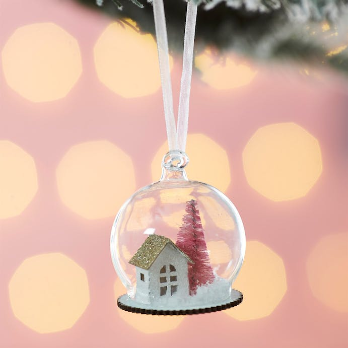 House in a dome  Hanging Decoration by Sass and Belle