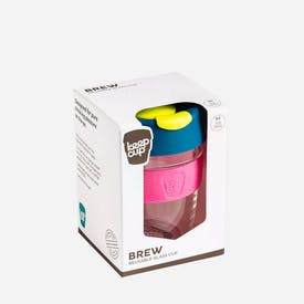 KeepCup Brew Reusable Glass Coffee Cup in Teal and Pink  (340ml)