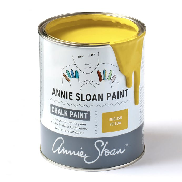 English Yellow Chalk Paint by Annie Sloan - 1 Litre Pot