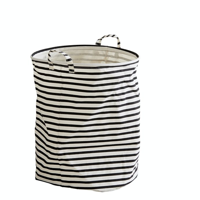 Black & White Fabric Laundry Bin by House Doctor