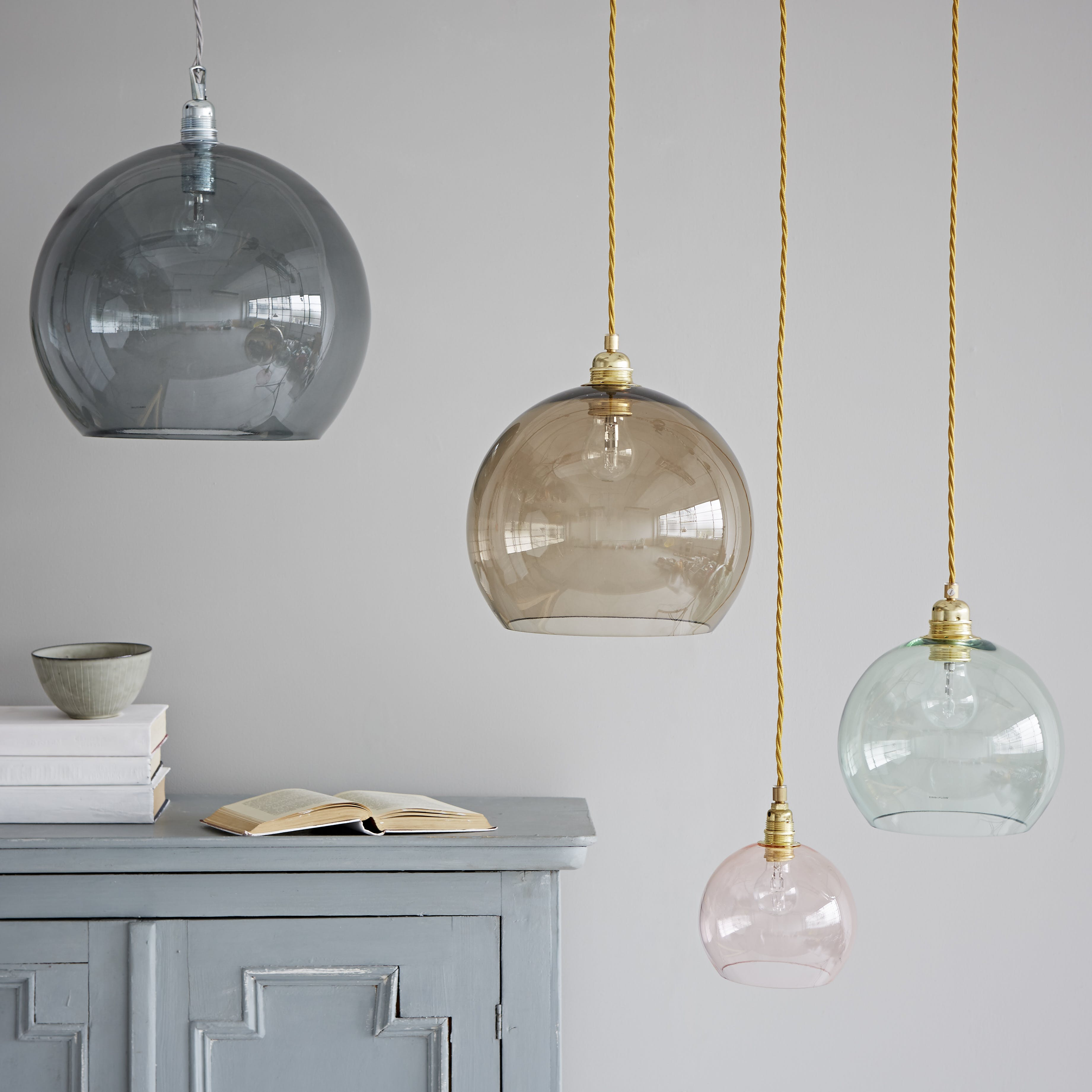 Coloured Gl Pendant Lights