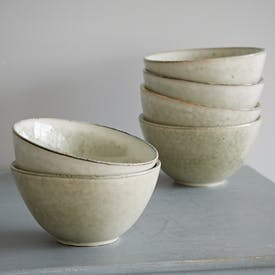 Deep Nordic Sand Stoneware Bowls by Broste