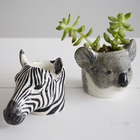 Hand Painted Exotic Animal Egg Cups by Quail Ceramics