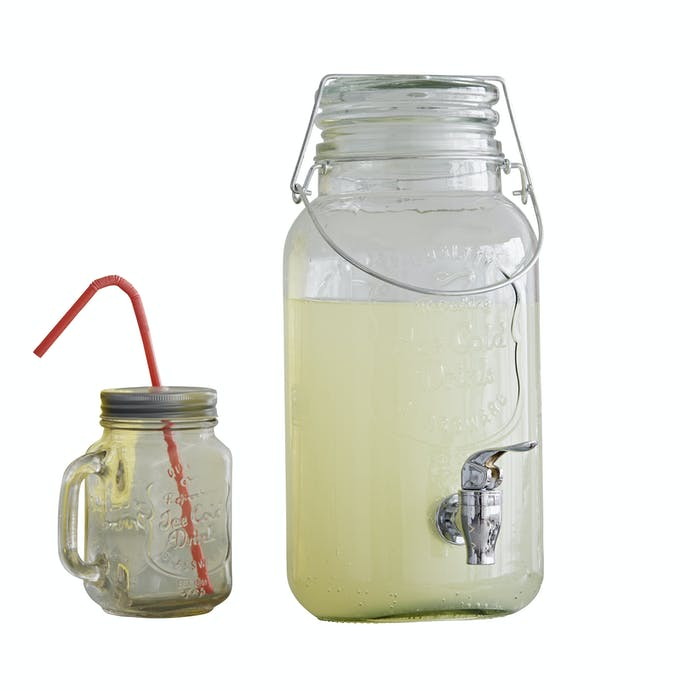Glass Jar Drink Dispenser with Tap