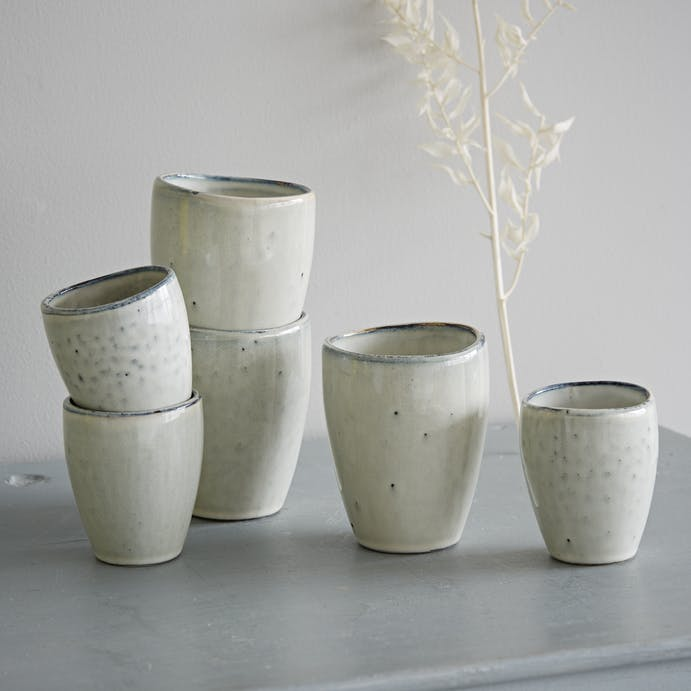 Nordic Sand Handleless Mugs by Broste