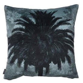 Velvet Blue Palm Cushion 50x50cm