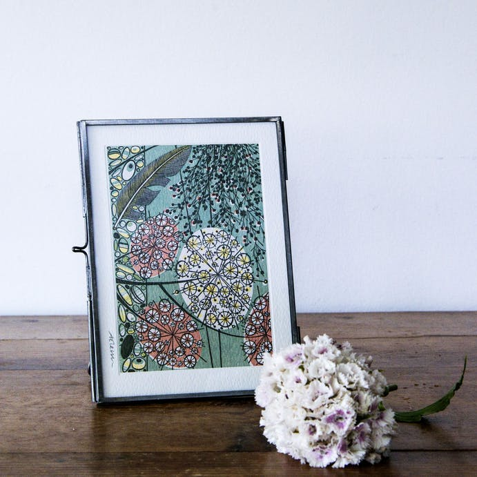 Antique Zinc Photo Frame