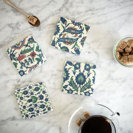Set of 4 Izmir Tile Coasters