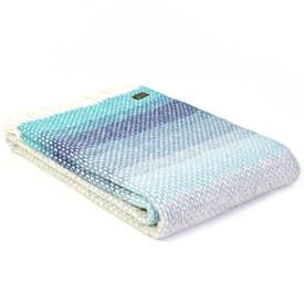 Seaside Blue Ombre Throw by Tweedmill
