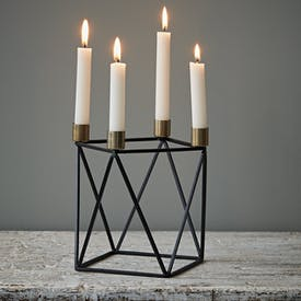 Black and Gold Candleholder by Hubsch