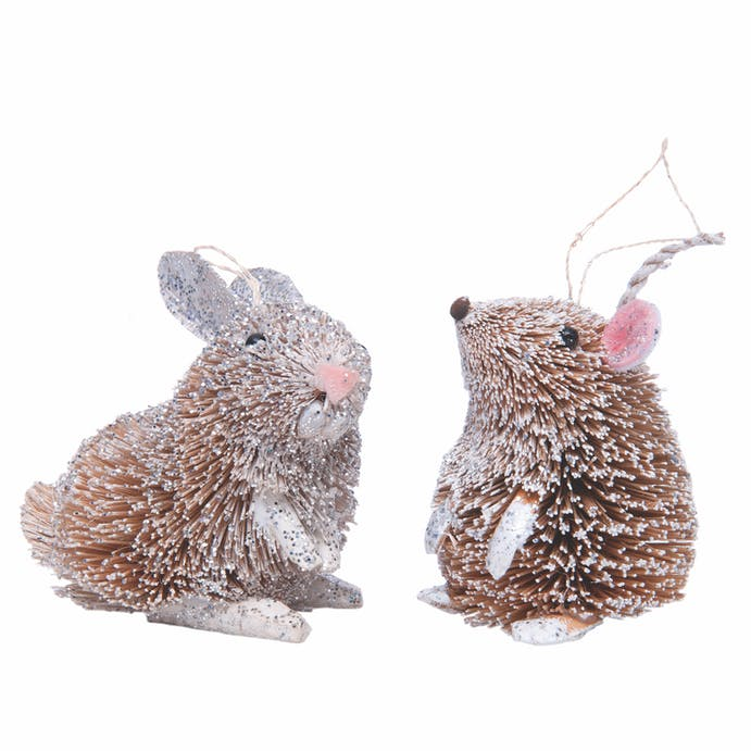 Hanging Rabbit and Dormouse Decorations