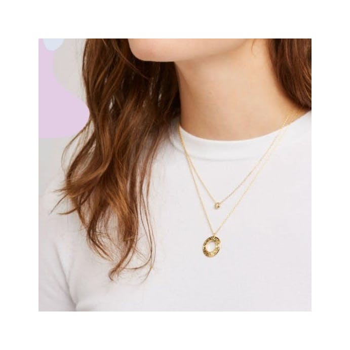 Aztec Circle Gold Necklace by Estella Bartlett
