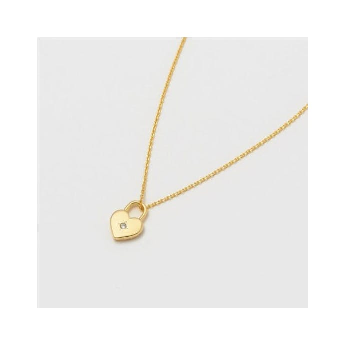 Heart Lock Gold Necklace by Estella Bartlett