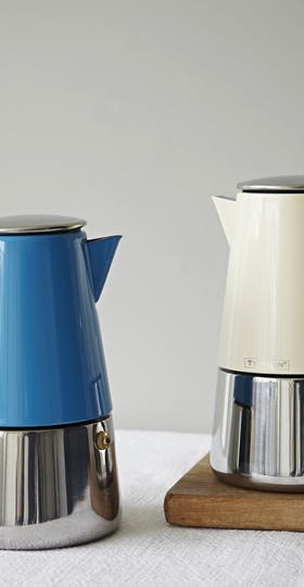 coloured stove top espresso maker