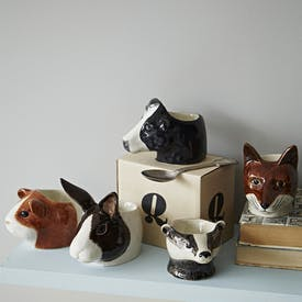Hand Painted Animal Egg Cups by Quail Ceramics