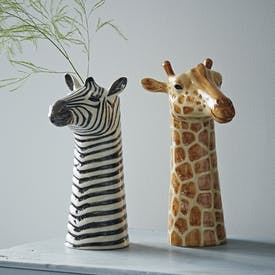 Hand Painted Animal Vases by Quail