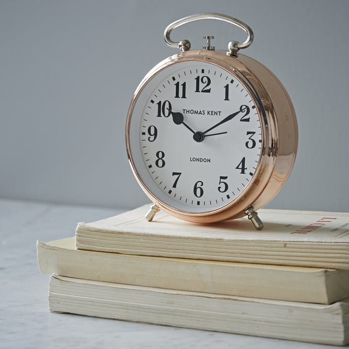 Rose Gold Alarm Clock