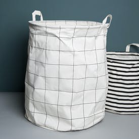 Grid Patterned Laundry Bag by House Doctor