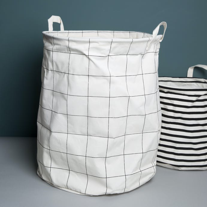 Grid patterened Laundry Bag by House Doctor