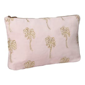 Pink Palm Tree Wash Bag