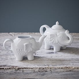 Elephant Milk Jug and Sugar Pot