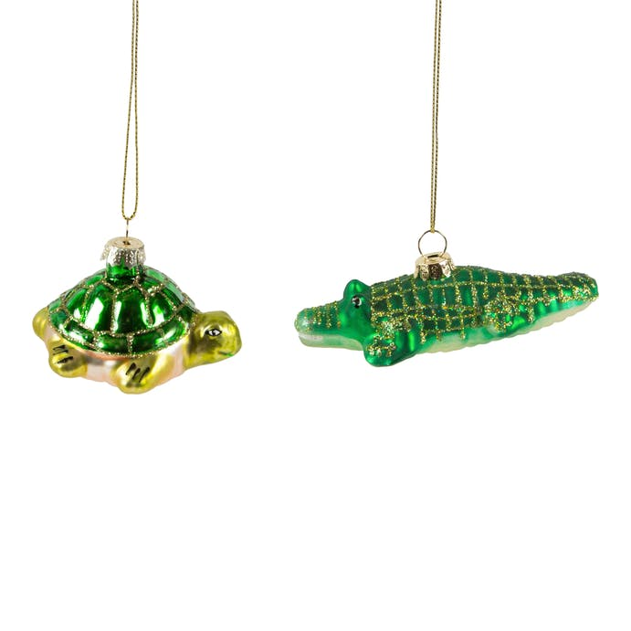 Tortoise and Crocodile Christmas Decoration