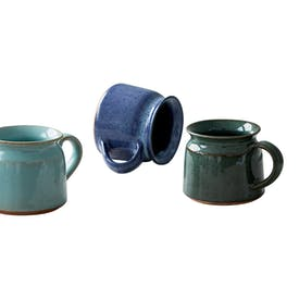 Fair Trade Ocean Earthenware Mugs